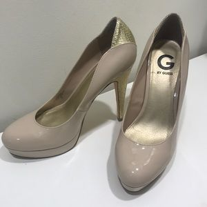 G by Guess Snake Print Detailed Pump